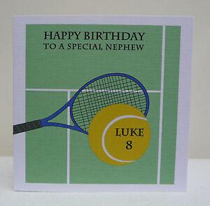 Personalised boys birthday card tennis 7th 8th 9th 10th 11th 12th image is loading personalised boys birthday card tennis 7th 8th 9th m4hsunfo