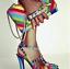 Rivet-Rainbow-Women-Ankle-Buckle-Sandals-Pointed-Toe-High-Heel-Stilettos-Sexy-C8 thumbnail 1