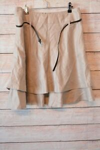 JACQUI-E-skirt-sz-10-medium-pink-A-line-linen-skirt