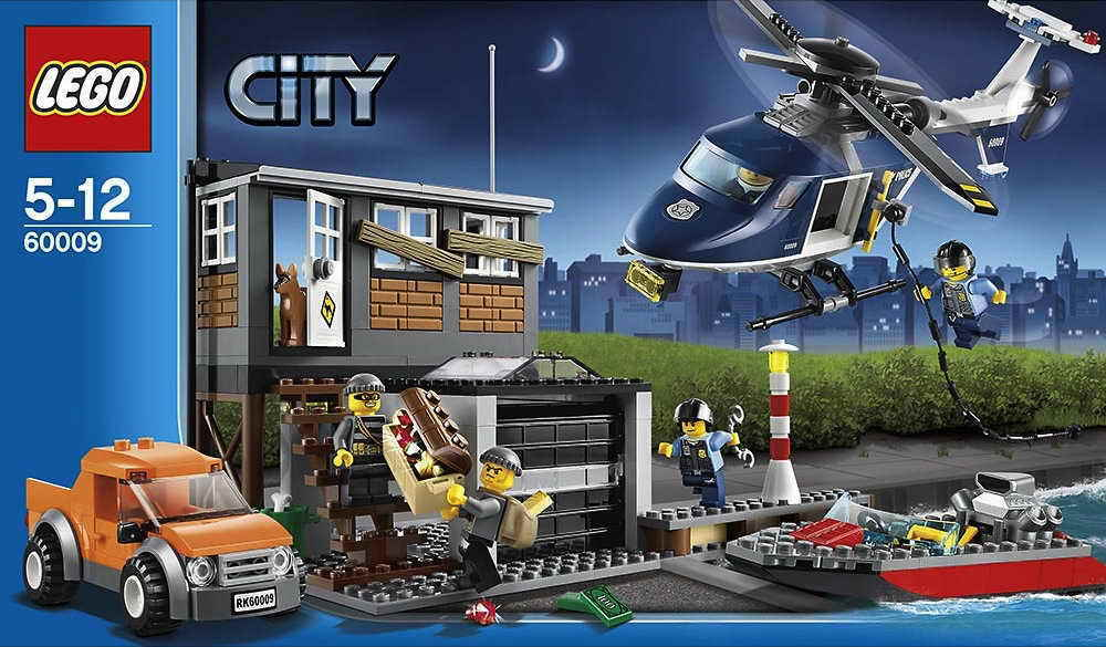 Lego Lego Lego City 60009 Police Helicopter Arrest Complete No Box f1303a
