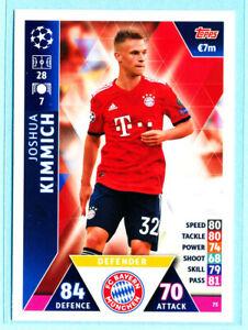 2018-19 Topps UEFA Champions League Match Attax JOSH KIMMICH Bayern Munich #75