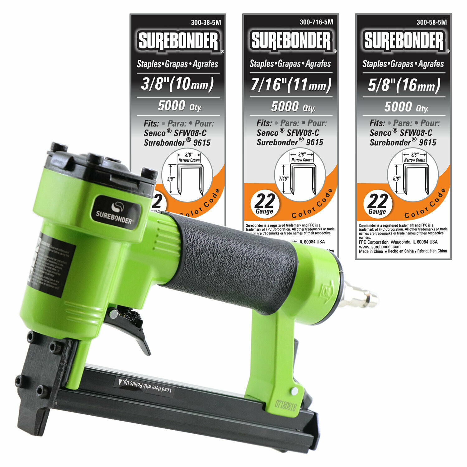 9615A Pneumatic 22 Gauge Upholstery Stapler with Case and 15,000 Staples. Available Now for 39.99