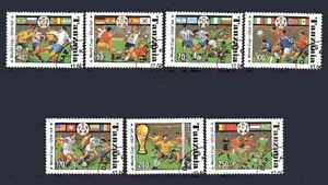 Football-Tanzanie-50-serie-complete-7-timbres-obliteres