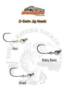 Dobyns D-Swim Swimbait Jigheads Hvy Hook Choose Size Color