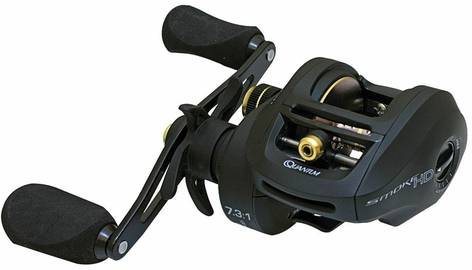 Quantum Smoke PT HD Bait Cast Reel SHD200HPT High Speed 7.3 1 Heavy Duty RH