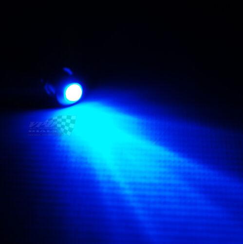 Blue LED bulb dash panel warning indicator light 12v waterproof chrome lamp