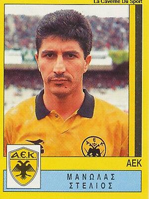 N°009 MANOLAS AEK ATHENS GREECE HELLAS PANINI GREEK LEAGUE FOOT 95 STICKER 1995