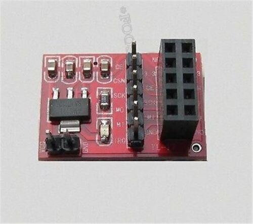 2Pcs Socket Adapter Plate Board For 10Pin NRF24L01 Wireless Transceive Modu rx