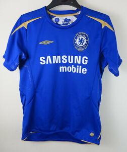 online retailer b8184 dcf1b Details about Kids Adidas 2005 Centenary Chelsea Football Shirt Youth Boys  11-12 Medium YM MB