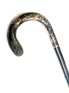 Antico-bastone-da-passeggio-manico-in-argento-925