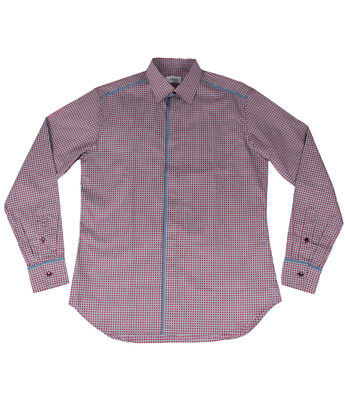 size 41-45 JM Icon Men/'s Sky Blue Patterned Cotton Dress Shirt Regular fit