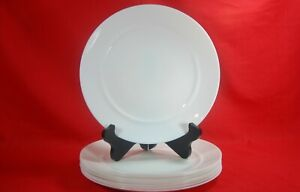 Luminarc-Arcopal-White-Dinner-Plates-Set-of-8-Excellent-Condition