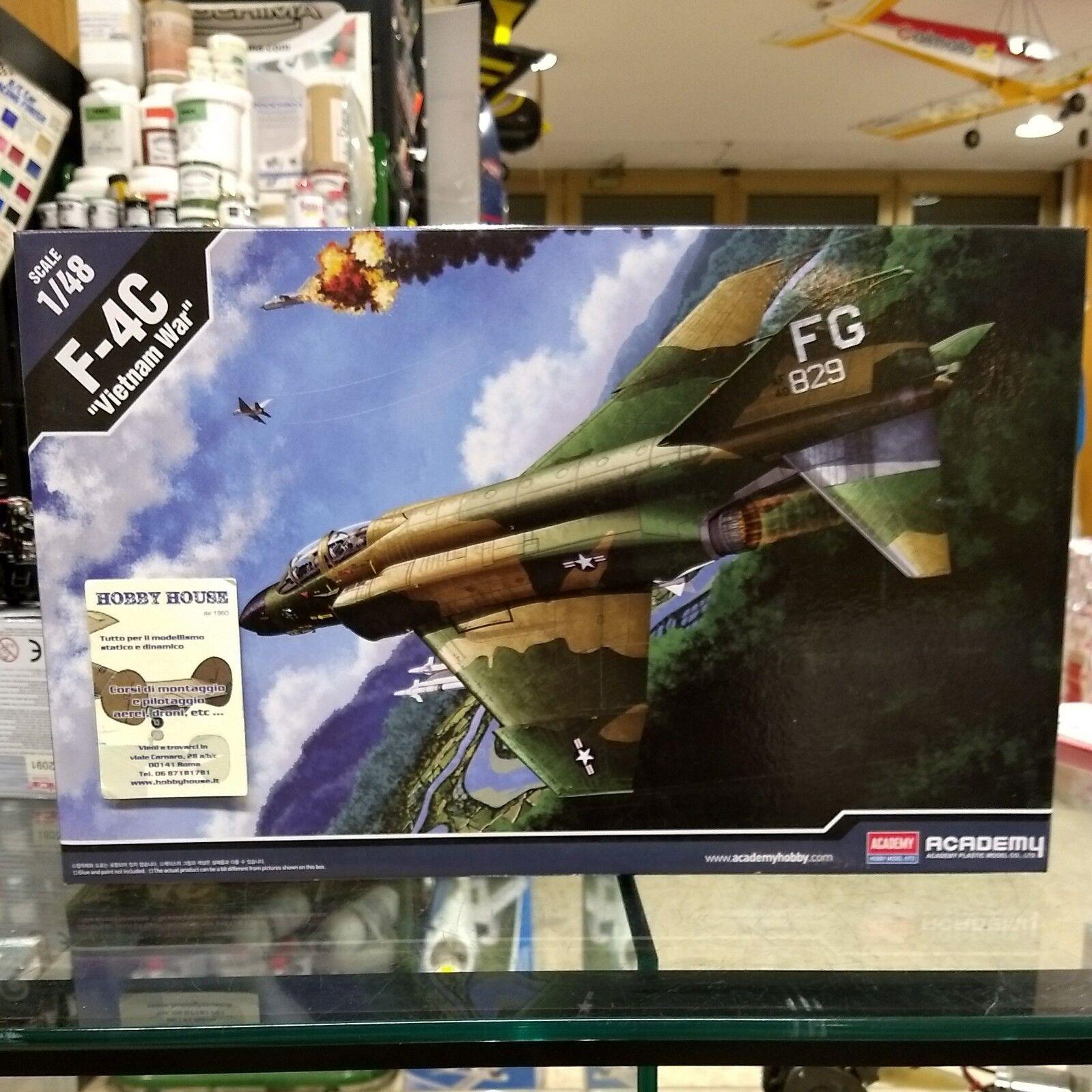 F-4C  VIETNAM WAR  - KIT ACADEMY 1 48 12294