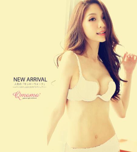 Women Deep U backless bras u shape multi-way Low cut Push Up brassiere All Color