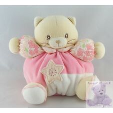 8620 - Doudou chat patapouf rose fleurs Lilirose KALOO - Security blanket