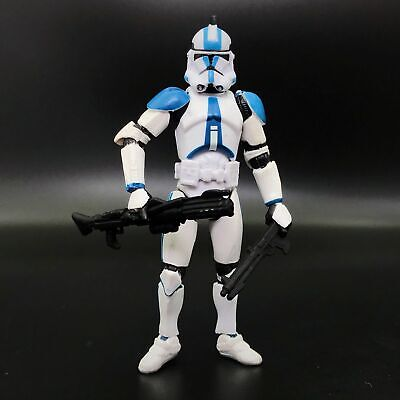 "Lot of 5 Star Wars 501st Legion Blue White Clone Trooper 3.75/"" Loose Figure"