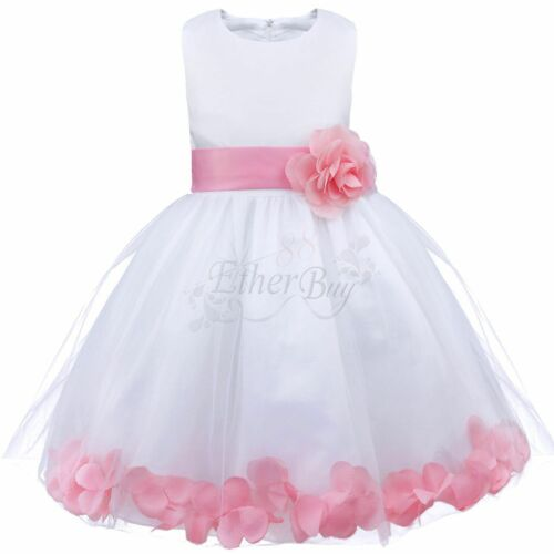 Flower Girl Dress Birthday Wedding Formal Pageant Recital Graduation Bridesmaid