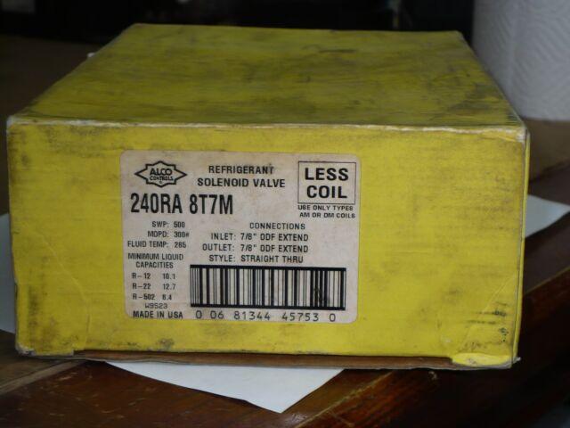 ALCO Controls Refrigerant Solenoid Valve 240ra 8t7m