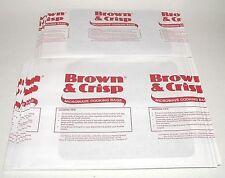 (1) Pk 30 ~BROWN & CRISP~ MICROWAVE OVEN COOKING BROWNING BAGS