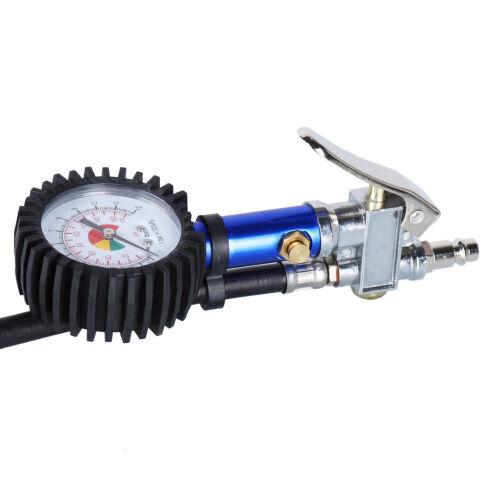 Profi Reifenfüllpistole Geeicht Luftdruckprüfer Druckluft Reifenfüller 0-15 Bar