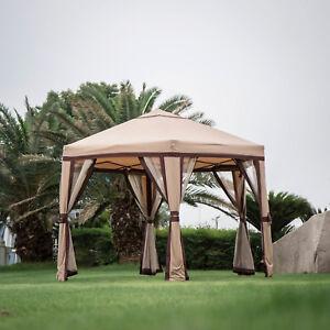 Big Hexagonal Garden Gazebo Mosquito Netting Mesh Curtain Outdoor