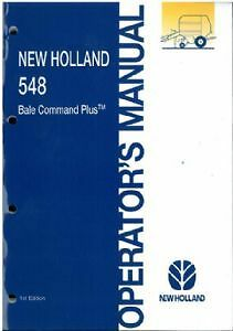 new holland round baler 548 bale command plus operators manual ebay rh ebay co uk Owner Manuals New Holland new holland bale command plus monitor manual