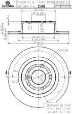 Brembo 25186 Disc Brake Rotor