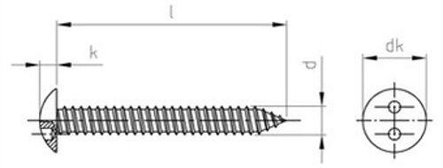 Art. Art. Art. 9105 Rundkopf-Sicherheitsschrauben Zweilochantrieb Form C Edelstahl A2 div. | Stil  a12f24