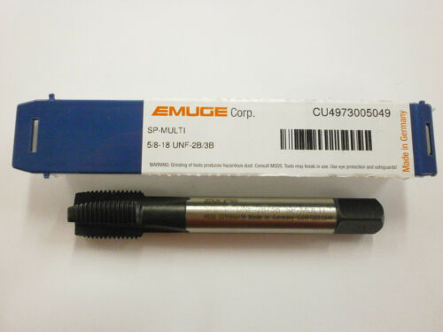 EMUGE 5//8-18 Spiral Point MULTI-TAP 2B//3B High Performance Germany CU4973005049