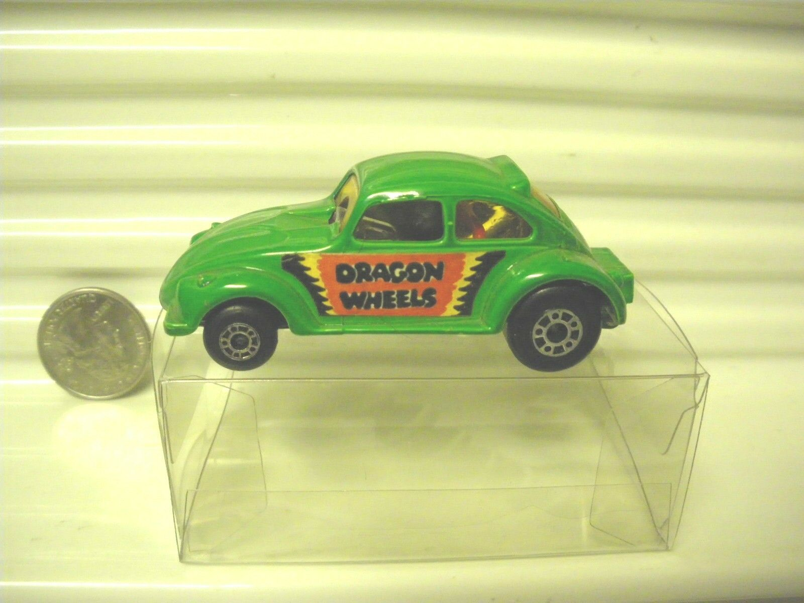 LESNEY MATCHBOX 1972 MB43B Grün DRAGON WHEELS VW w4 DOT DASH WHEELS MINT PL BX