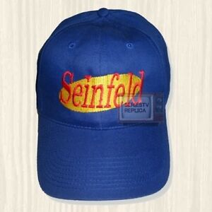 ccbb5e98771 Seinfeld Blue Hat Series TV Jerry Logo Kramer George Costanza Cap ...