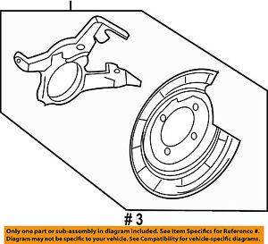 FORD OEM Rear Brake-Backing Plate Splash Dust Shield CL8Z2B540A