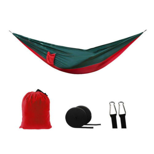2 Person Outdoor Camping Nylon Hammock Parachute Hanging Bed Sleeping Swing Set