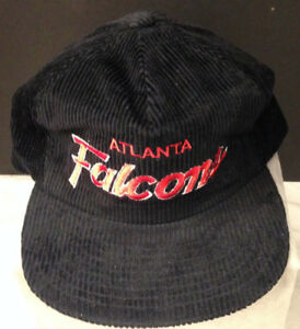 on feet images of for whole family wholesale outlet VINTAGE 1980S/90S NEW OLD STOCK ATLANTA FALCONS CORDUROY SLIDE ...