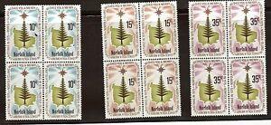 Norfolk-Island-Scott-187-189-Christmas-1975-Blocks-Of-4-MNH-OG-02-NI187