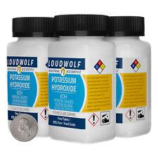 Potassium Hydroxide 12 Ounces 4 Bottles 99 Pure Food Grade Fine Flakes