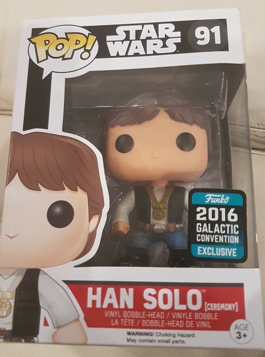 Neuf   HAN SOLO Pop Vinyl Galactic Convention Excl. Star Wars.