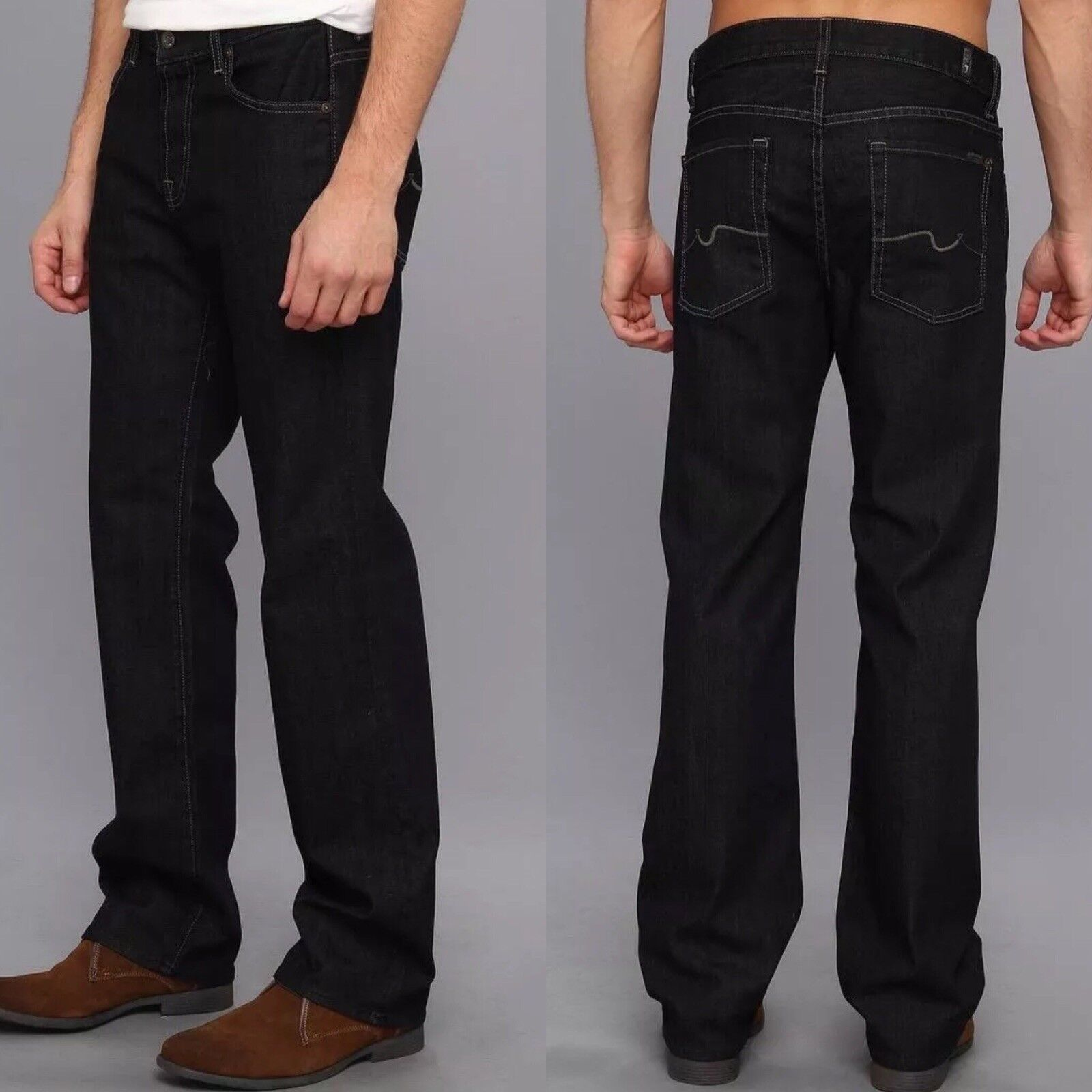Men's Seven 7 For All Mankind Austyn Relaxed Straight Dark Jeans 28-30 New