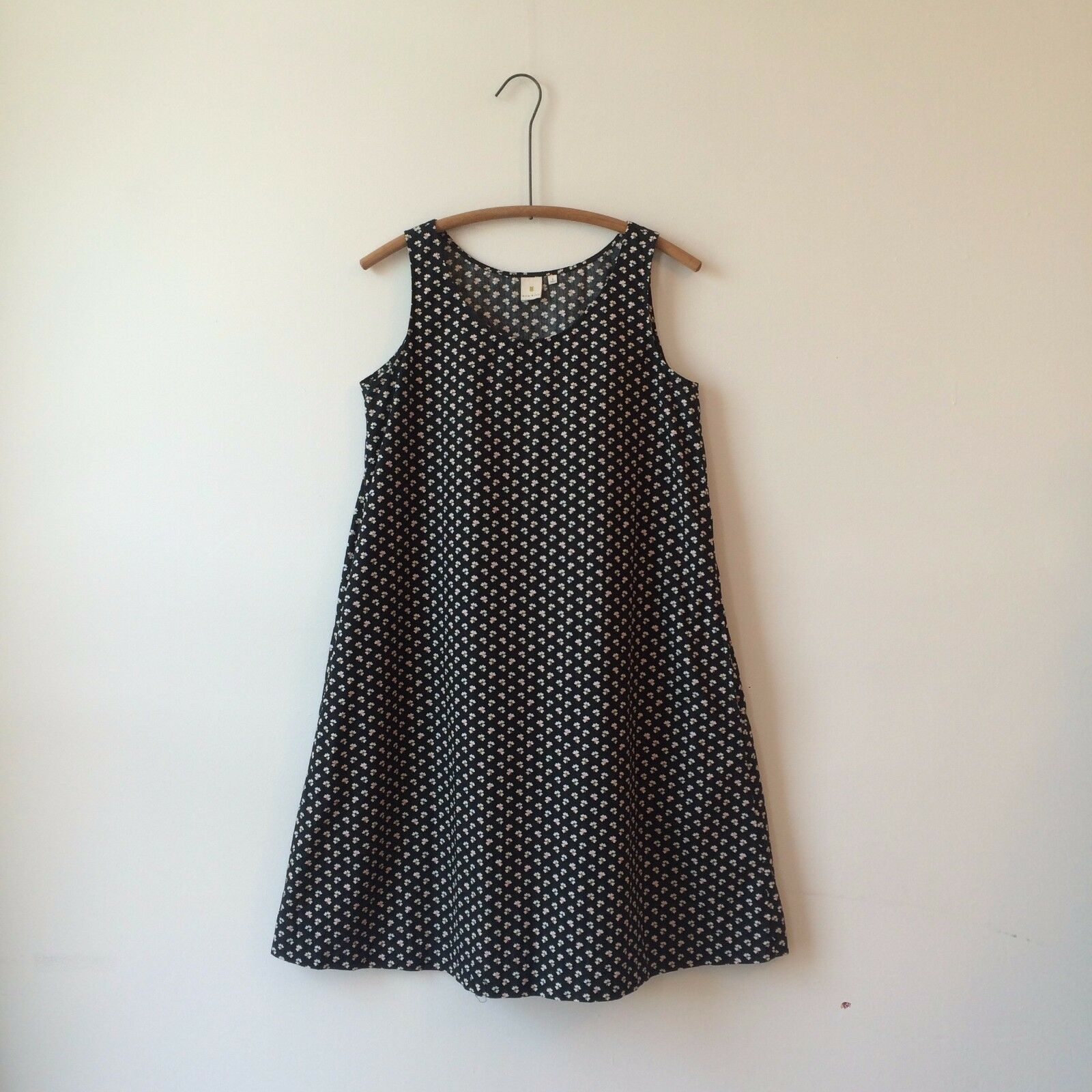 Orla Kiely for Uniqlo Cotton Knee Length Babydoll Trapeze Dress Sz Sm PERFECT