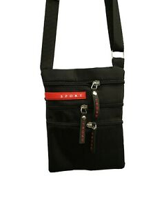 Tasche-Damen-Herren-Umhaengetasche-Flugbegleiter-Sport-Bag-Handtasche-schwarz