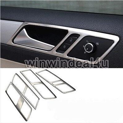 STAINLESS STEEL CAR DOOR INTERIOR HANDLE PANEL TRIM COVER FOR VW JETTA MK6