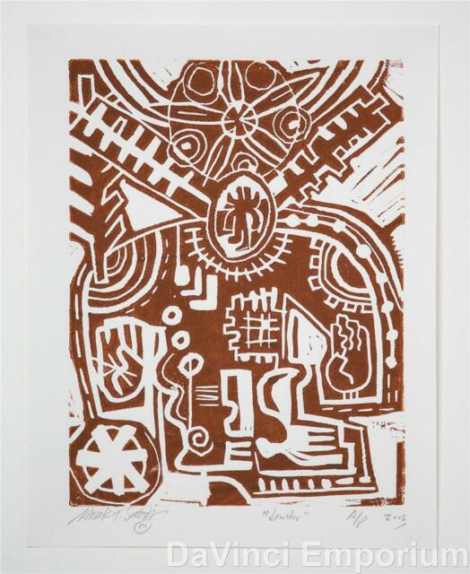 Mark T. Smith Dendur Linocut Block Print Special Edition Hand Signed Numbered