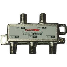 CHANNEL PLUS 2534 Splitter/Combiner (4 way) for TV/Antenna/Cable,1 GHz bandwidth