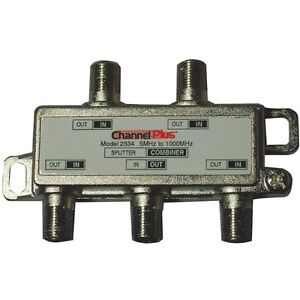 CHANNEL-PLUS-2534-Splitter-Combiner-4-way-for-TV-Antenna-Cable-1-GHz-bandwidth