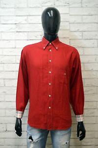 BURBERRY-LONDON-Camicia-Uomo-L-Maglia-Camicetta-Polo-Manica-Lunga-Shirt-Man