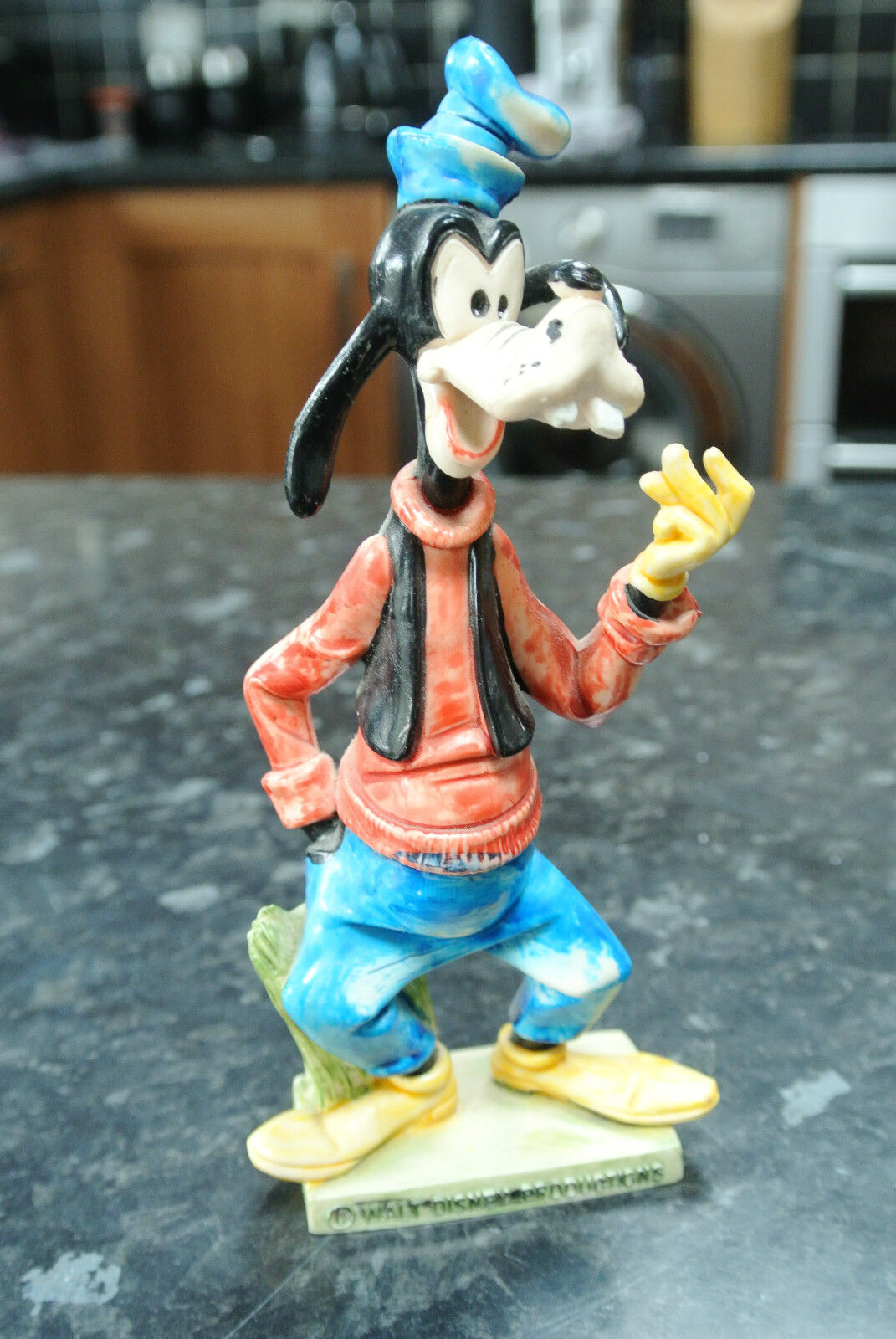 Jahr 1960s Goofy Figure Italian Made in  Hard Vinyl