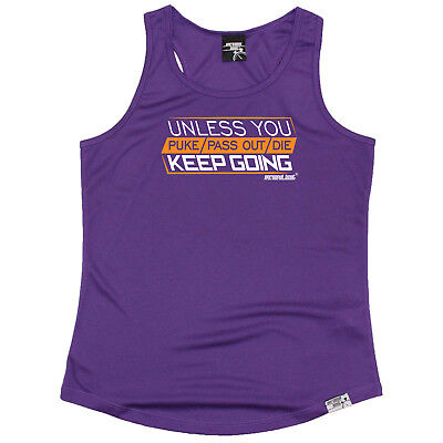 Running Vest Funny Womens Sports Performance Singlet - Unless You Puke Pass Out