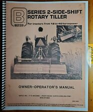 Befco 2 Side Shift Rotary Tiller Owners Operators Amp Parts Manual S2m14068