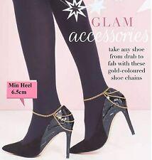 Tatianna Shoe Chain Decoration Anklet new in box minimum heel 6cm