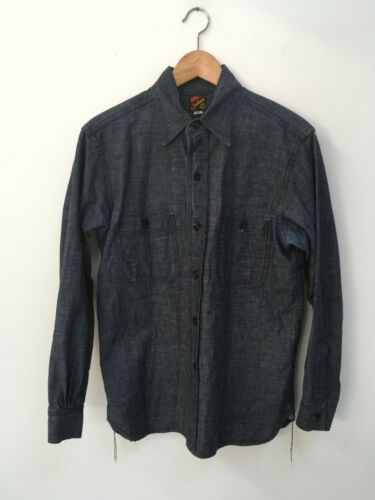 Mister Freedom Denim Sportsman Shirt Size M Made i